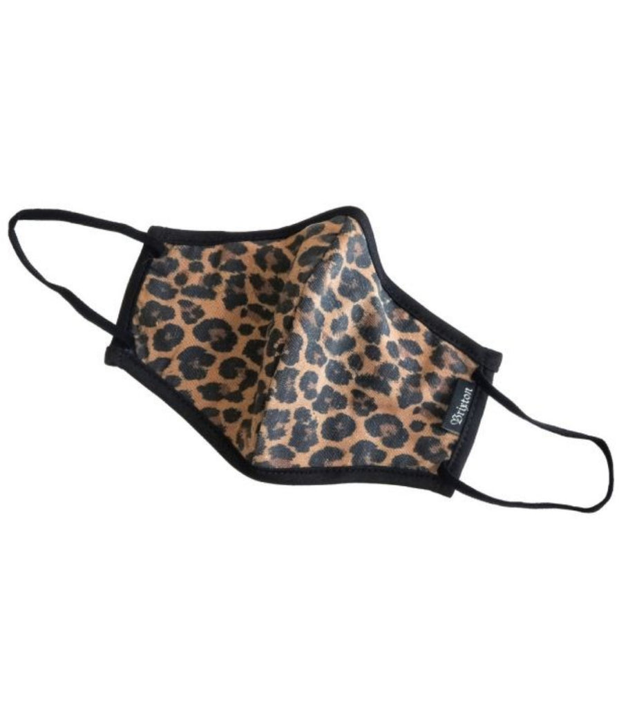 Brixton Antimicrobial 4-Way Stretch Face Mask Leopard