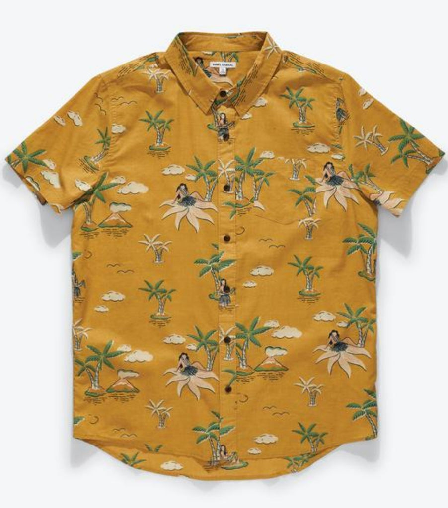 Banks Journal Atoll Short Sleeve Woven Shirt Ochre