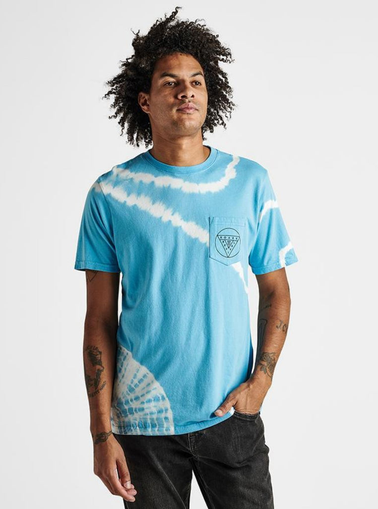 Roark Badge of Honor Tee Light Blue Tie Dye