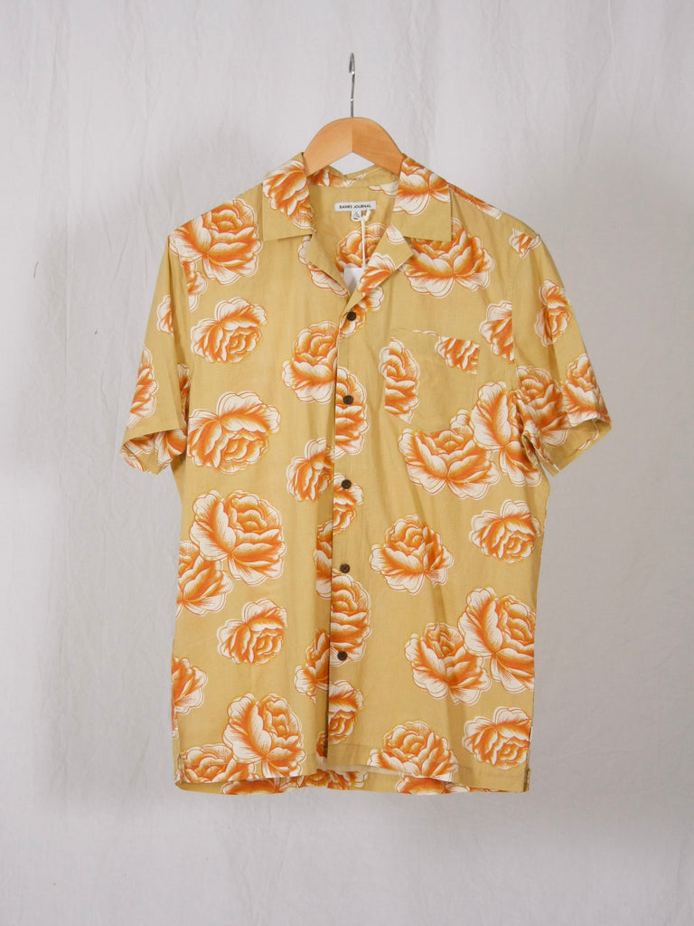 Banks Journal Pollen Short Sleeve Woven Shirt Sunbeam