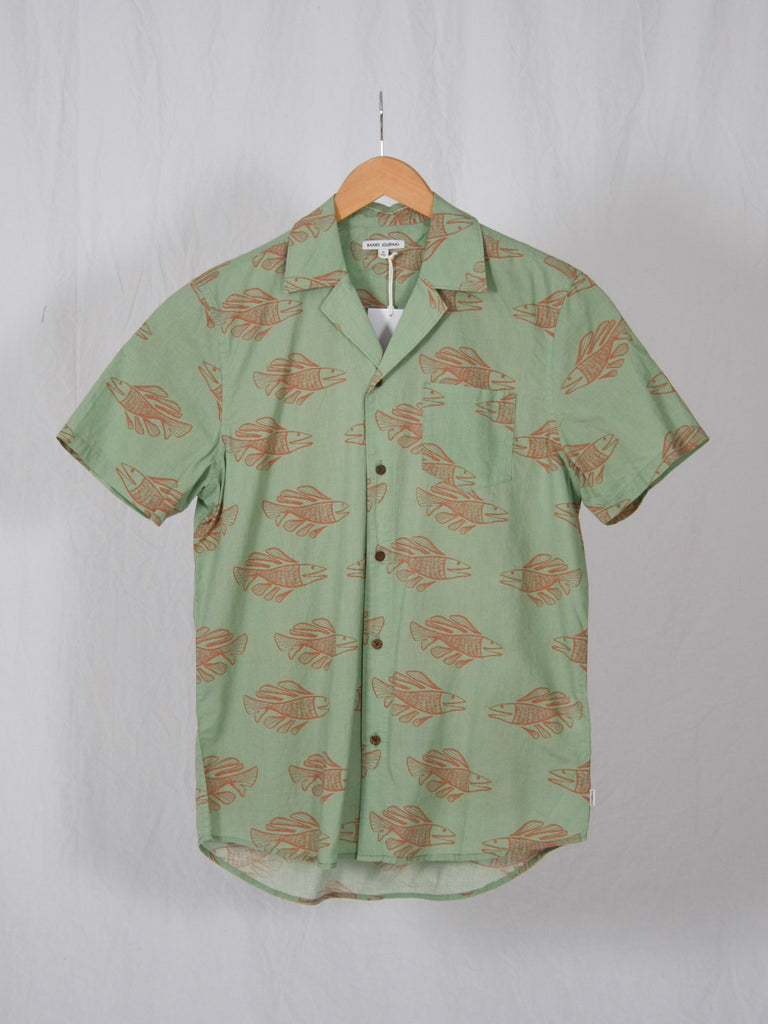 Banks Short Sleeve Scales Shirt Basil
