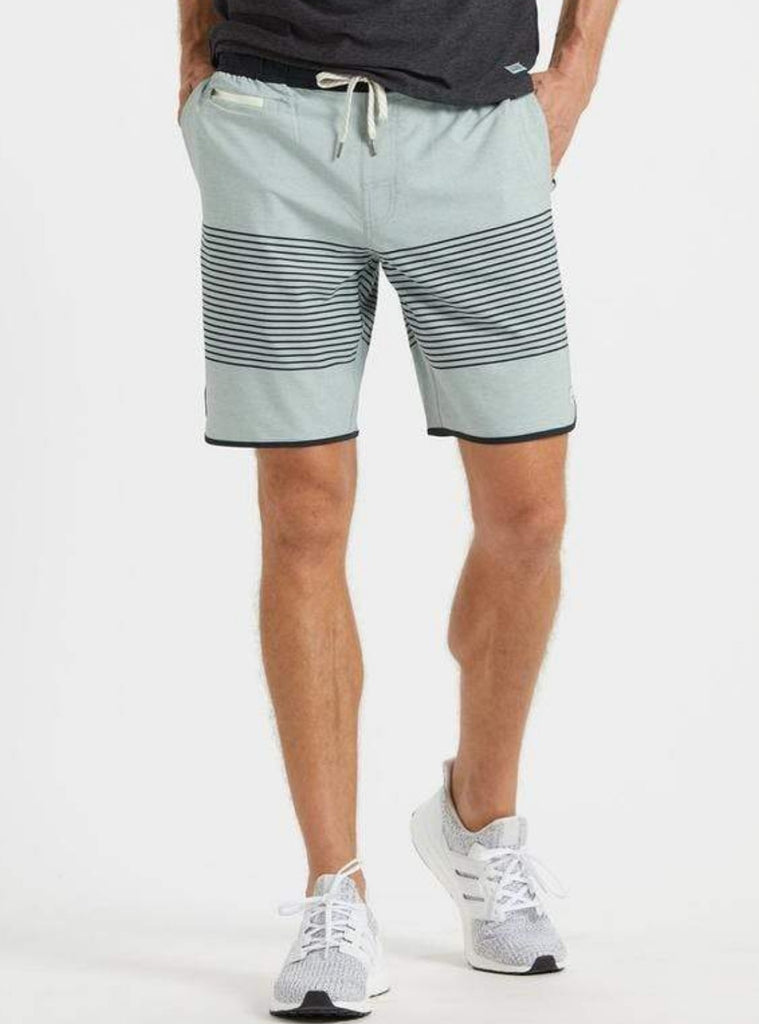 Vuori Banks Shorts Sea Glass Linen Stripe