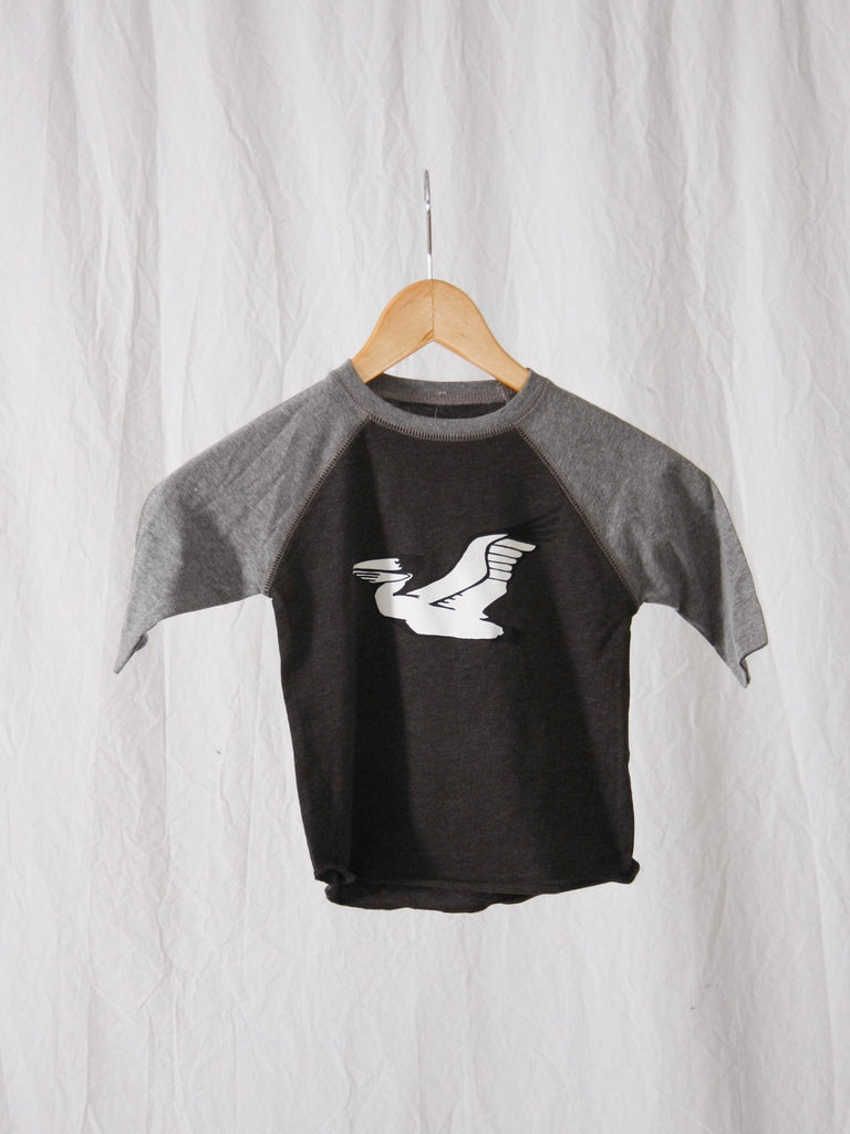 Berdels Toddler Basic Berd Baseball Tee Heather/Smoke