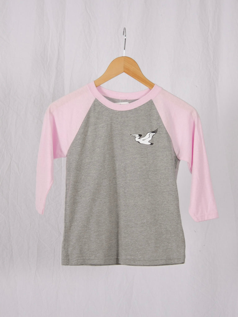 Berdels Kid's Sky to Sand Baseball Tee Lilac/Gray