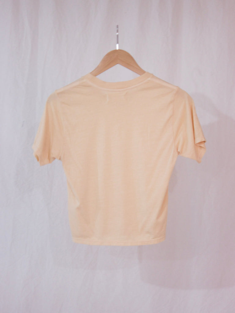 Back Beat Rags Hemp Crop Tee Sand