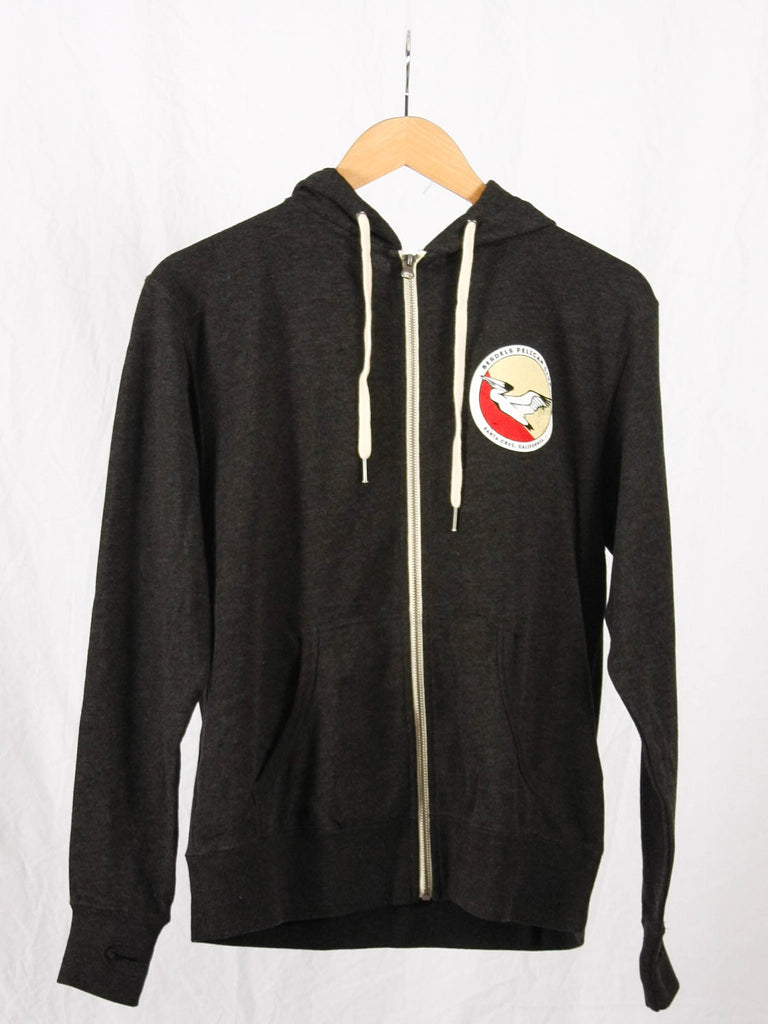 Pelican Club French Terry Zip-Up Sweatshirt Heather Charcoal