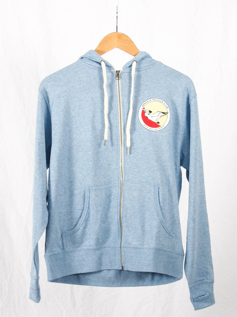 Pelican Club French Terry Zip-Up Sweatshirt Heather Sky