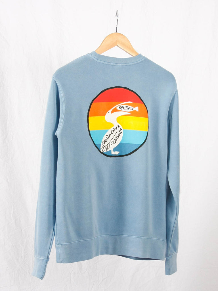 Rainbow Berd Crewneck Sweatshirt Light Blue