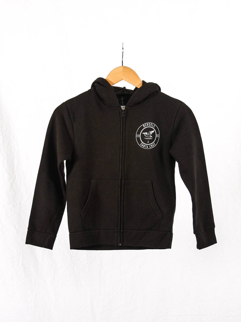 Surf Club Kid's Zip-Hoodie Black