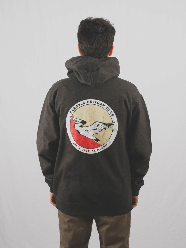 Pelican Club Zip Hoodie Heather Charcoal