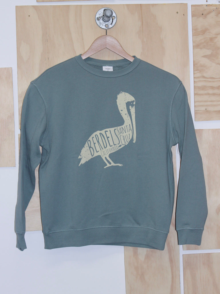 Berdels Big Belly Pelican Crewneck Sweatshirt Sage Green