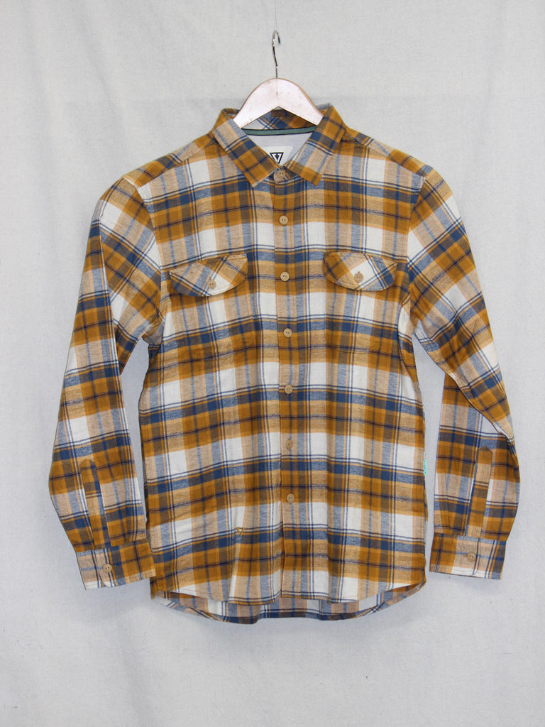 Vissla Central Coast Long Sleeve Flannel Barley