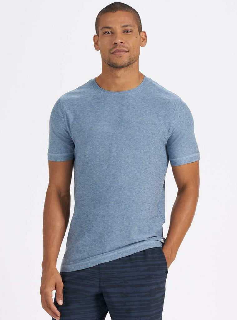 Vuori Strato Tech Tee Heather Cloud