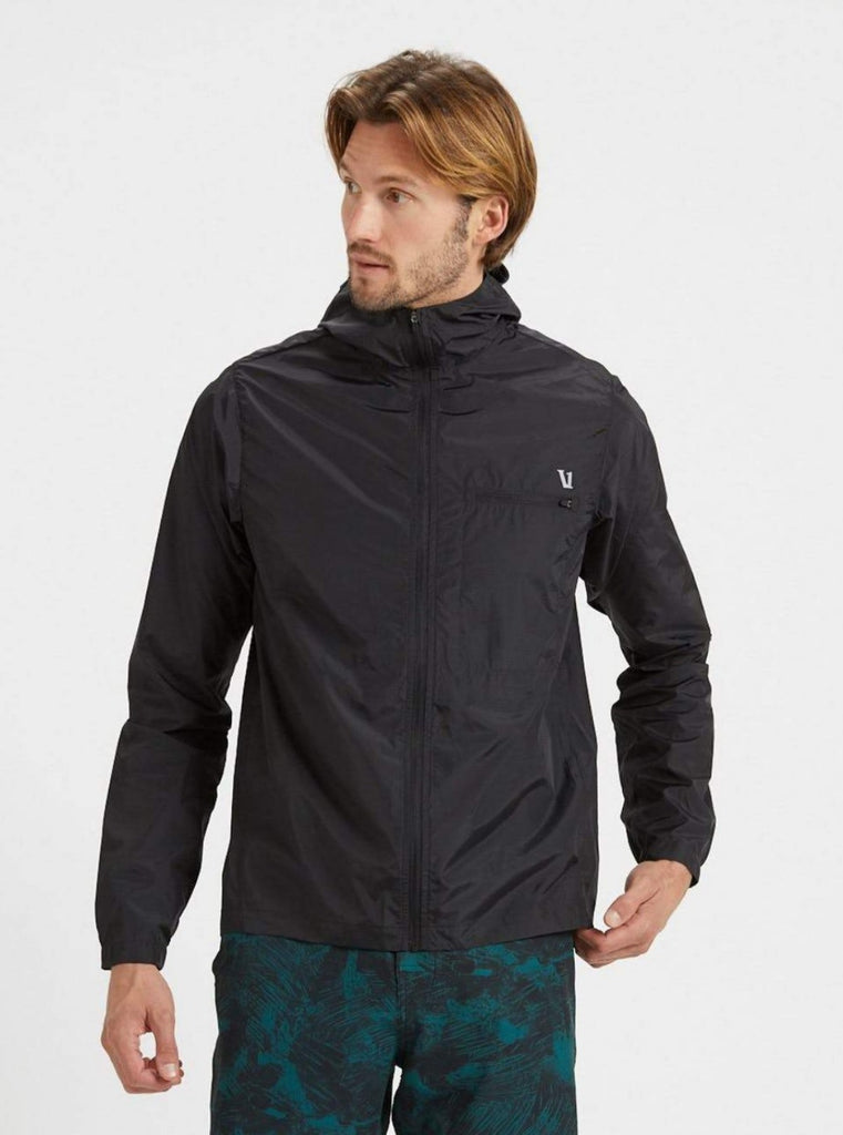 Vuori Daybreak Windbreaker Jacket Black