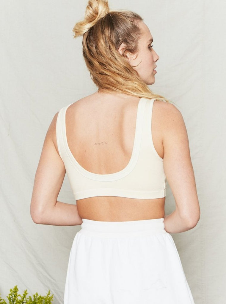Back Beat Co Organic Cotton Double Band Bra Natural