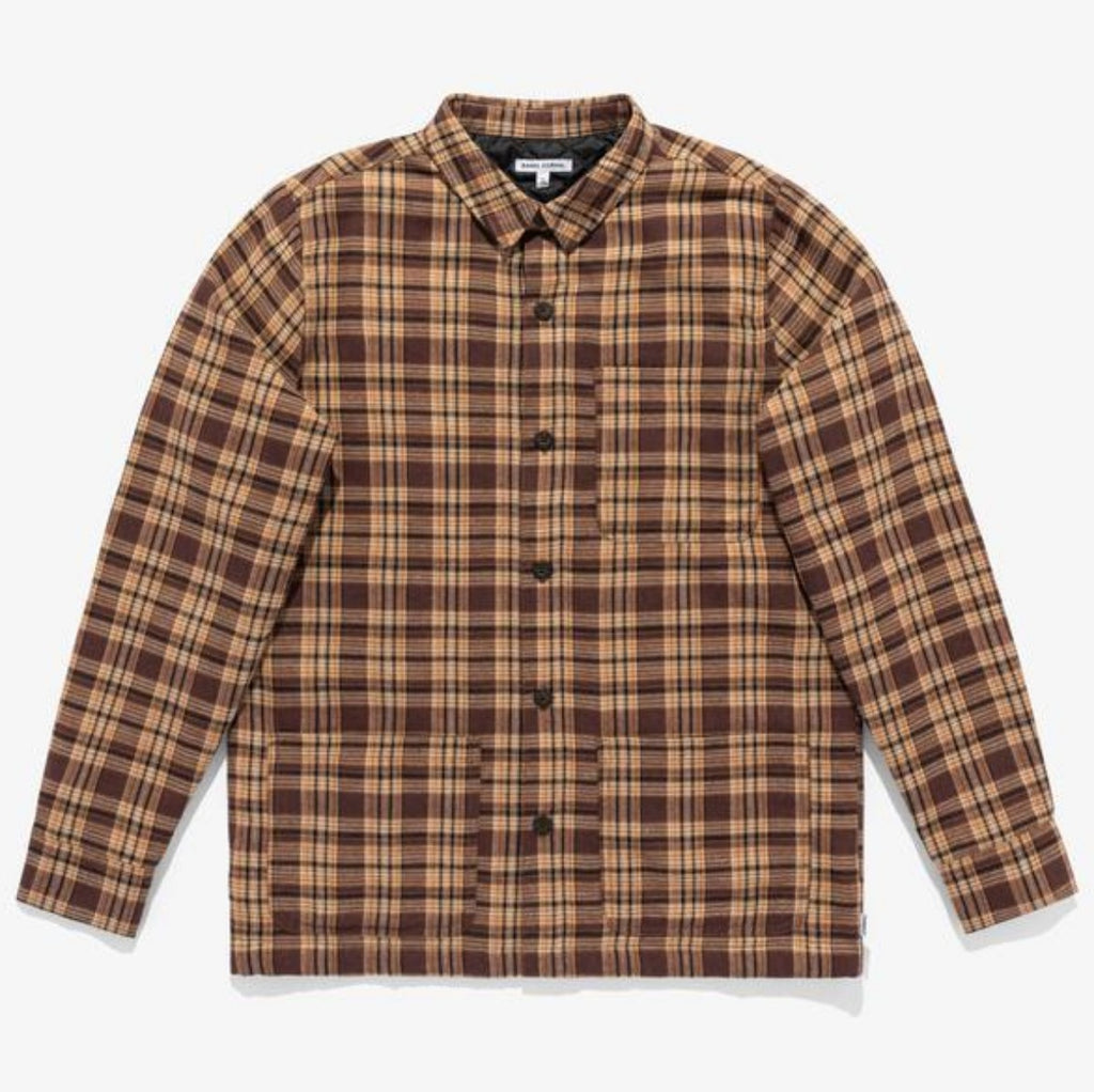 Banks Journal Duty Long Sleeve Woven Shirt Baked Clay