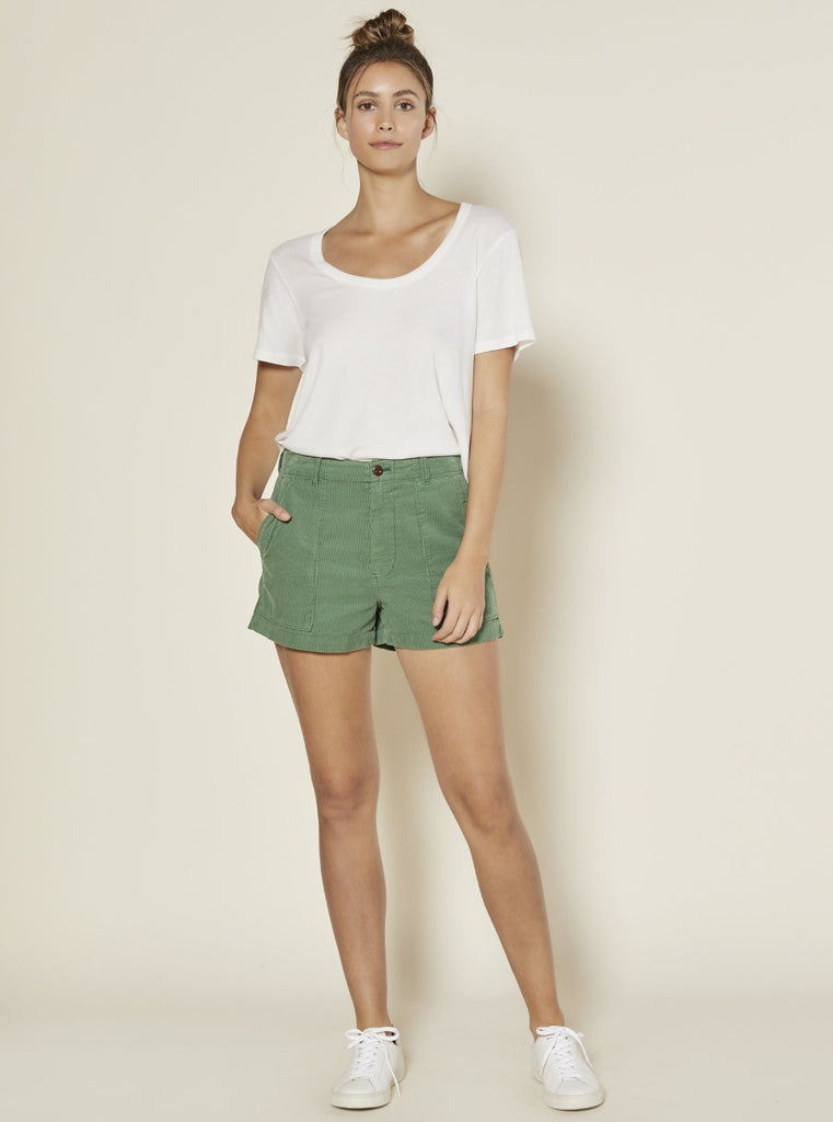 Outerknown Women's Seventyseven Corduroy Shorts Green Glass