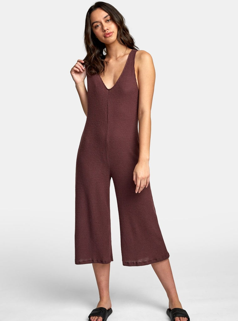 RVCA Singular Jumpsuit Fudge