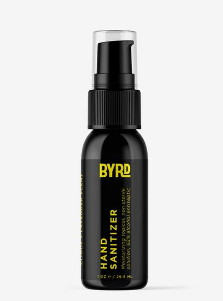 BYRD hand sanitizer