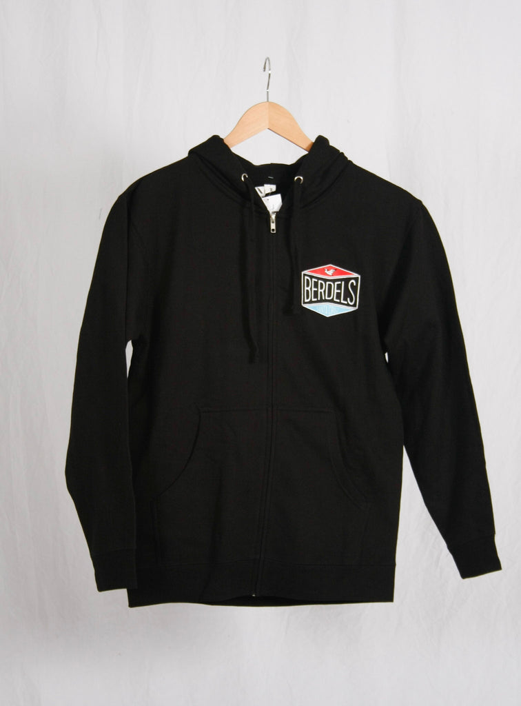 Gas Patch Zip Hoodie Black