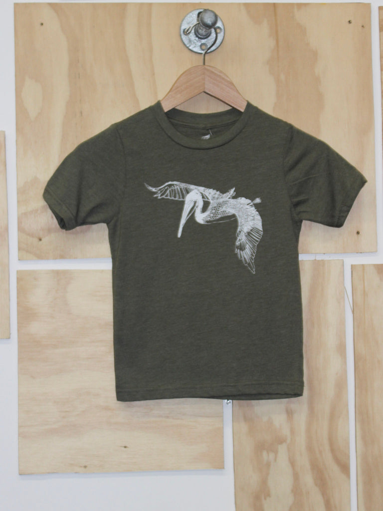 In Flight Kids Tee Military