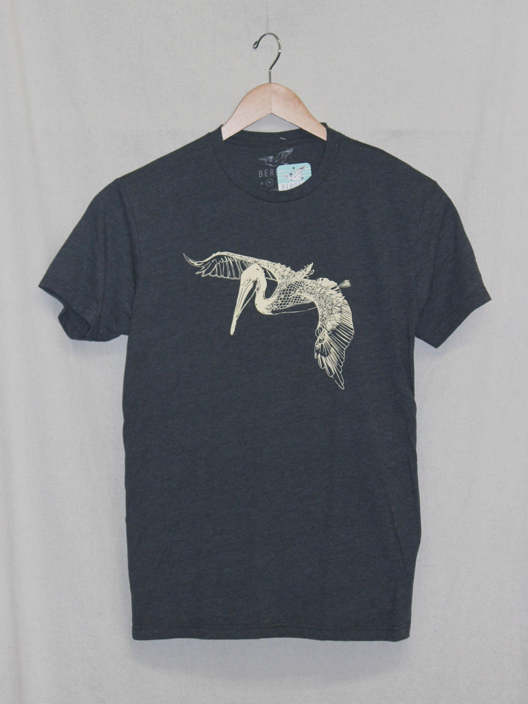 In Flight Pelican Tee Heather Charcoal