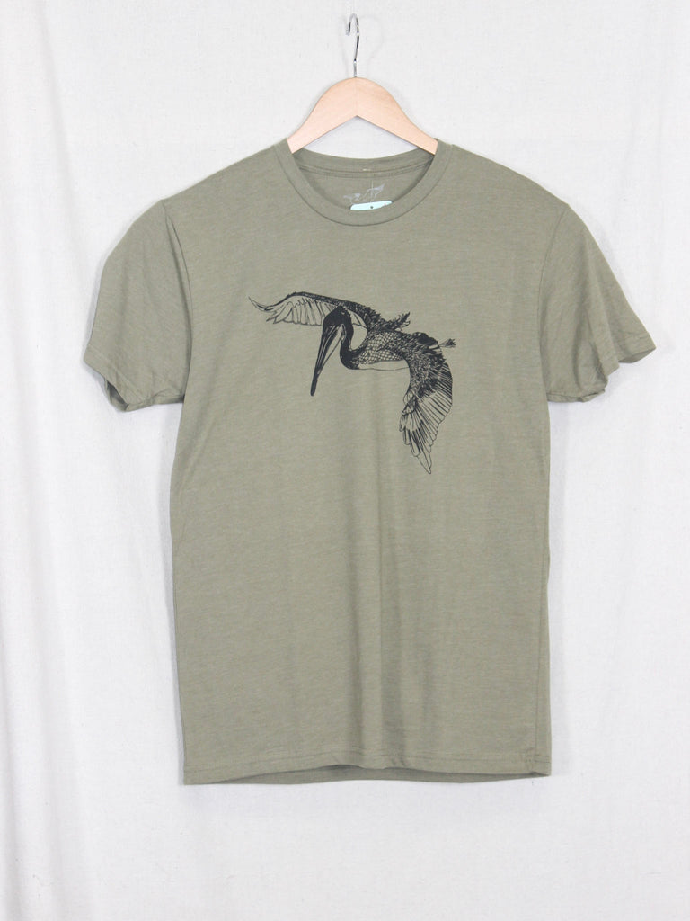 In Flight Pelican Tee Light Olive