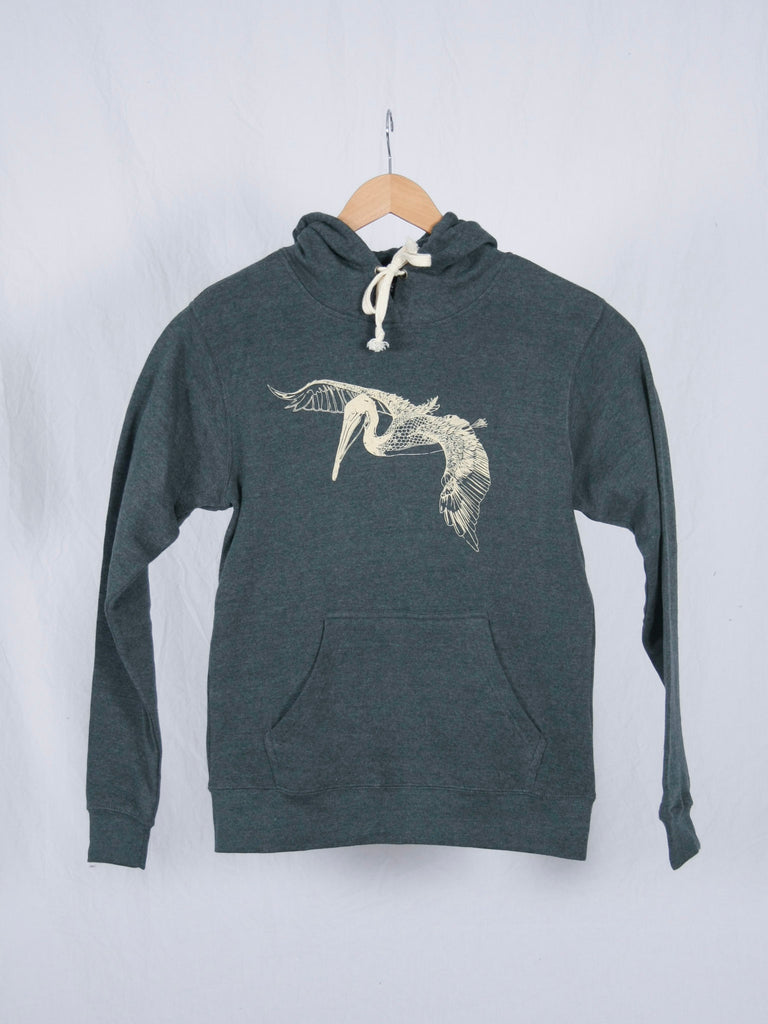 Berdels In Flight Triblend Pullover Sweatshirt Heather Navy