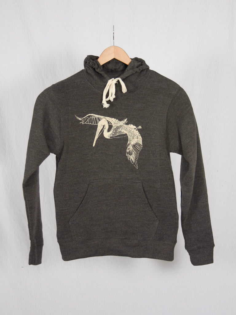 Berdels In Flight Triblend Pullover Sweatshirt Heather Charcoal
