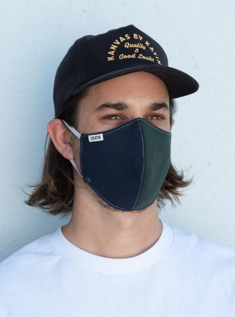 Katin Face Mask Navy + Green