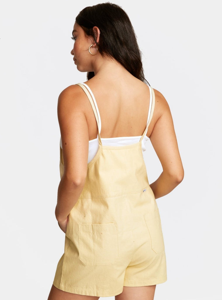 RVCA Kick It Overall Jumpsuit Cork