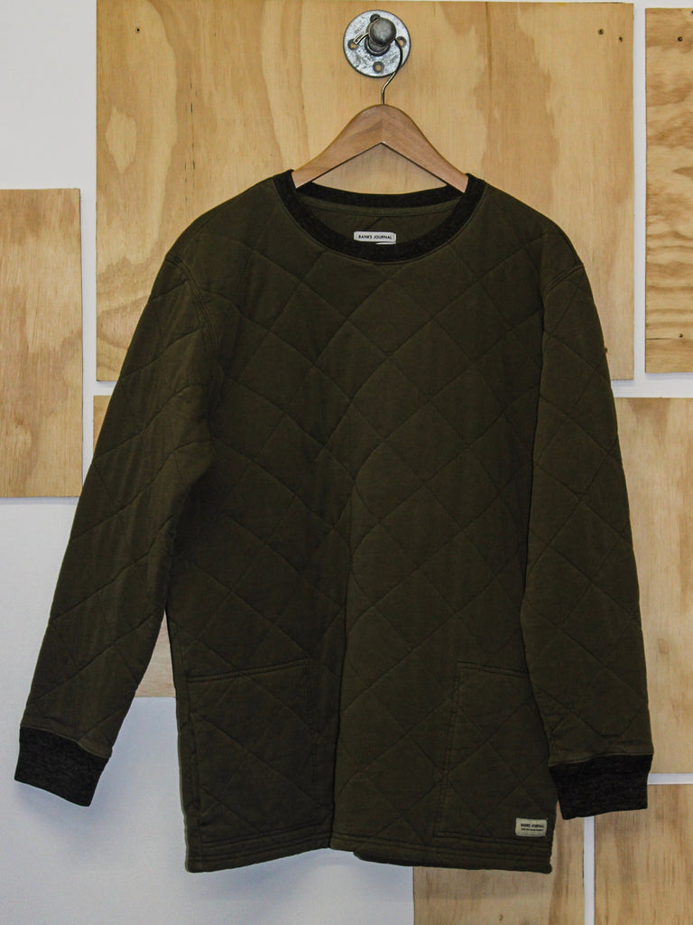 Banks Journal Kingdom Fleece Sweatshirt Utility Green