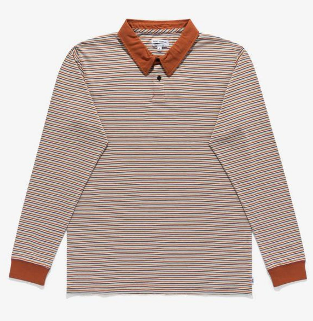 Banks Journal Duty Long Sleeve Lasting Polo Baked Clay
