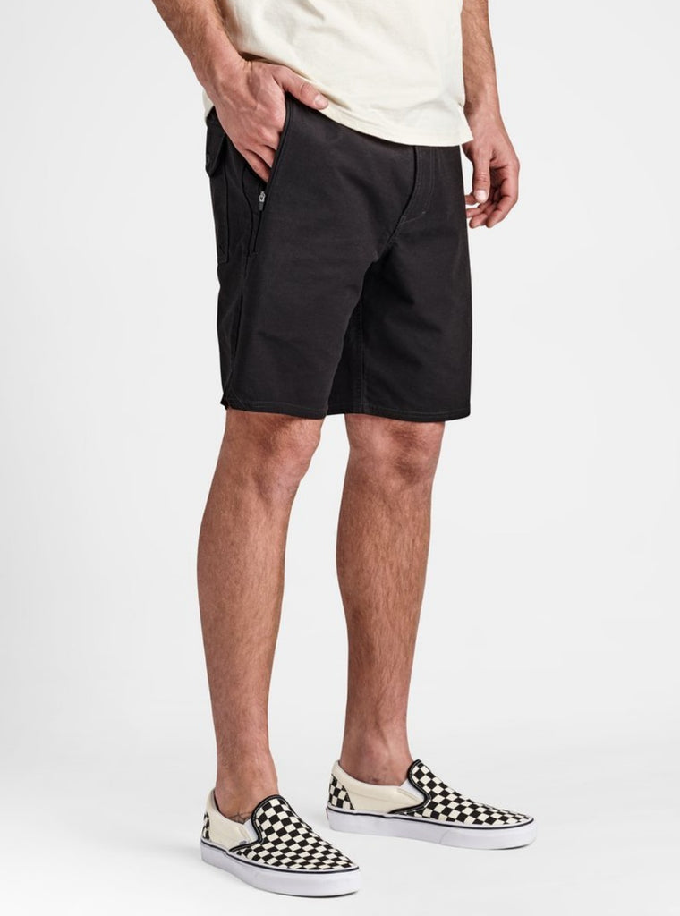 Roark Layover Stretch Travel Shorts Black