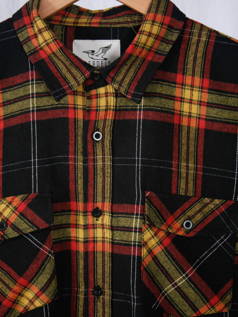 Berdels Log Jammer Flannel Shirt Red/Black