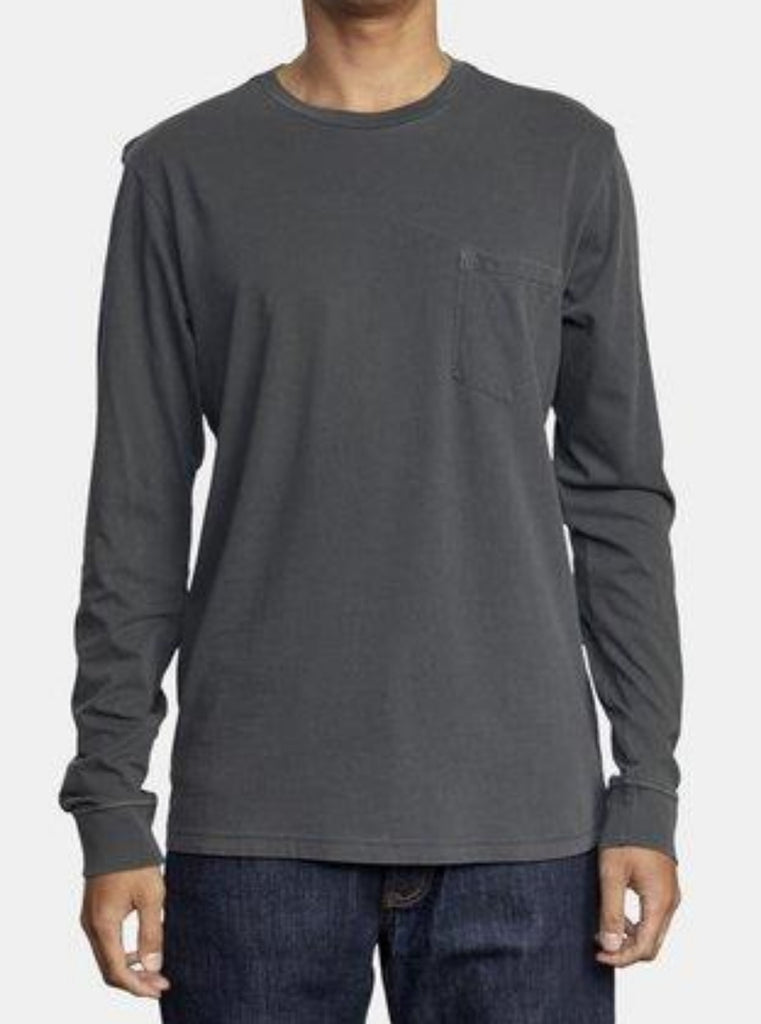 RVCA PTC II Pigment Long Sleeve Tee Pirate Black
