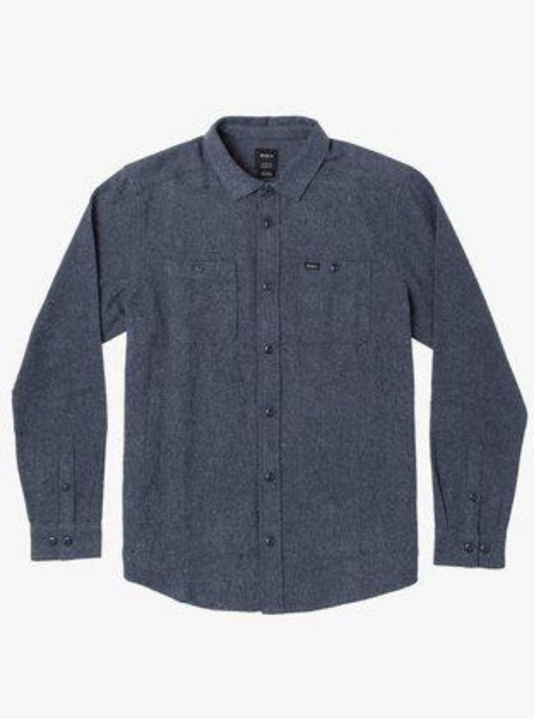 RVCA Harvest Long Sleeve Flannel Moody Blue