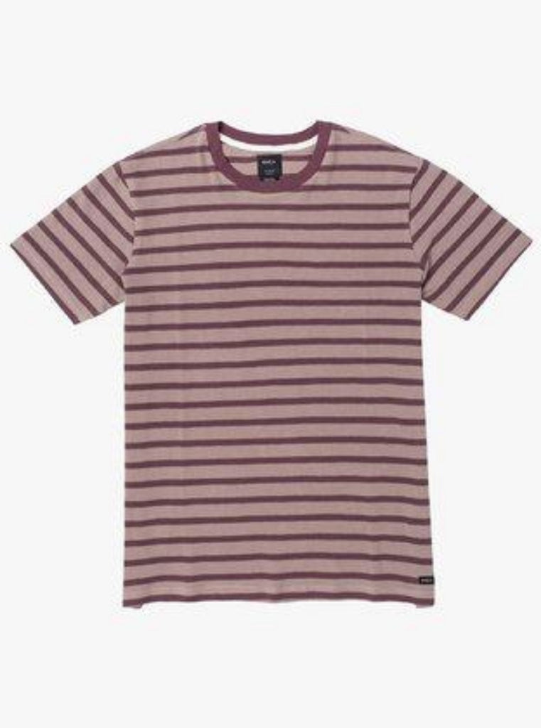 RVCA Greenwich Stripe Short Sleeve Tee Merlot