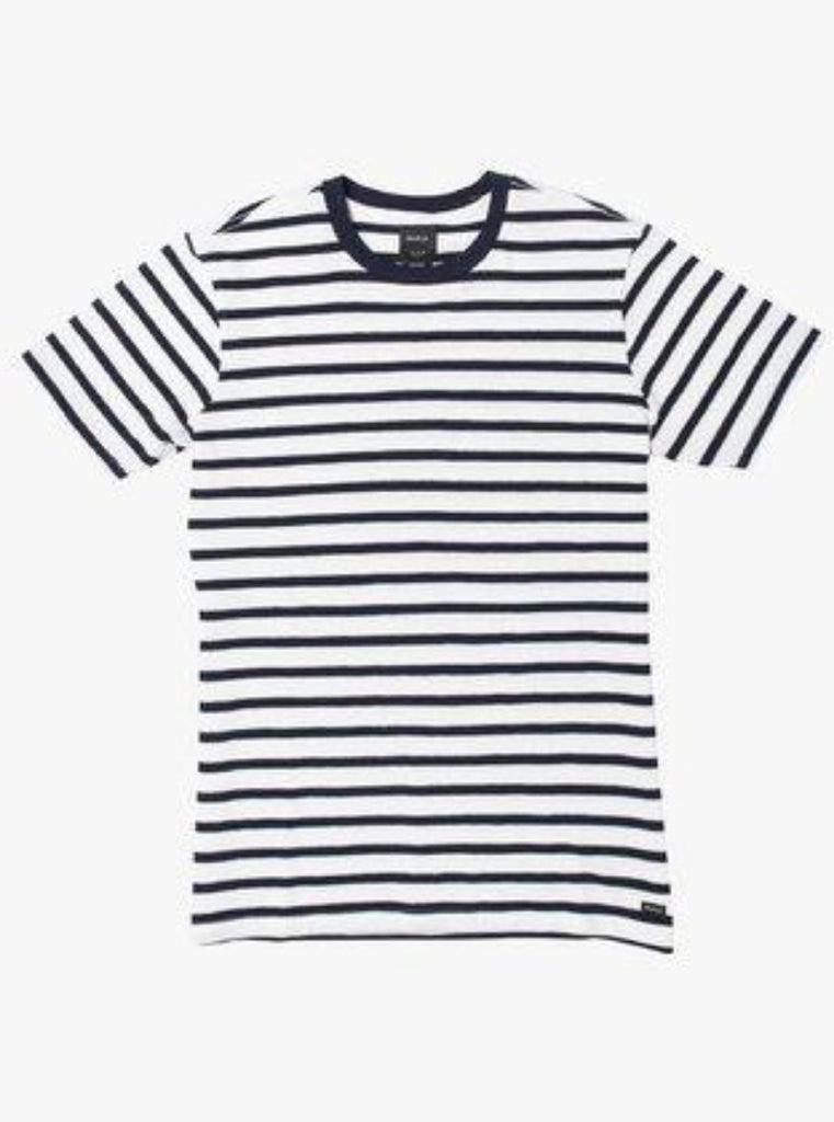 RVCA Greenwich Stripe Short Sleeve Tee Navy