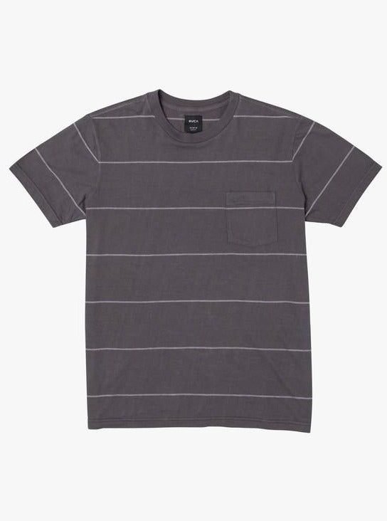 RVCA PTC Stripe II Short Sleeve Knit Tee Pirate Black