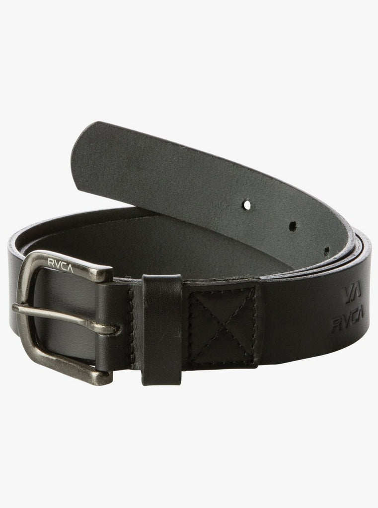 RVCA Truce Leather Belt Black