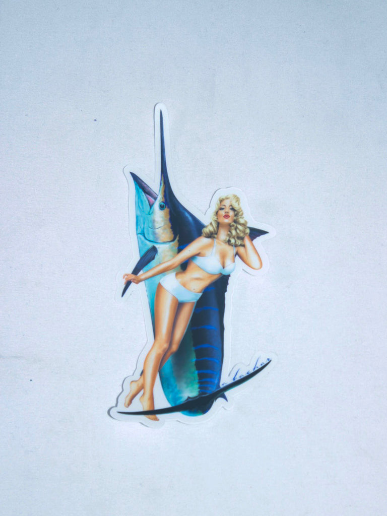 Abachar Marilyn Marlin Pin Up Sticker