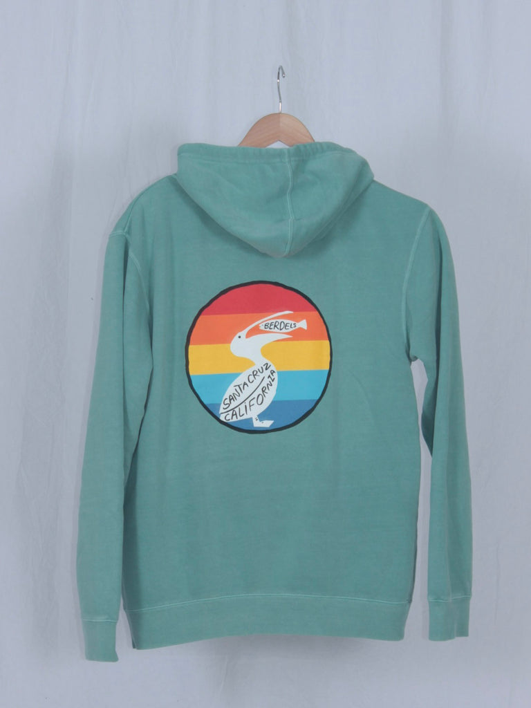 Rainbow Berd Hooded Pullover Sweatshirt Mint