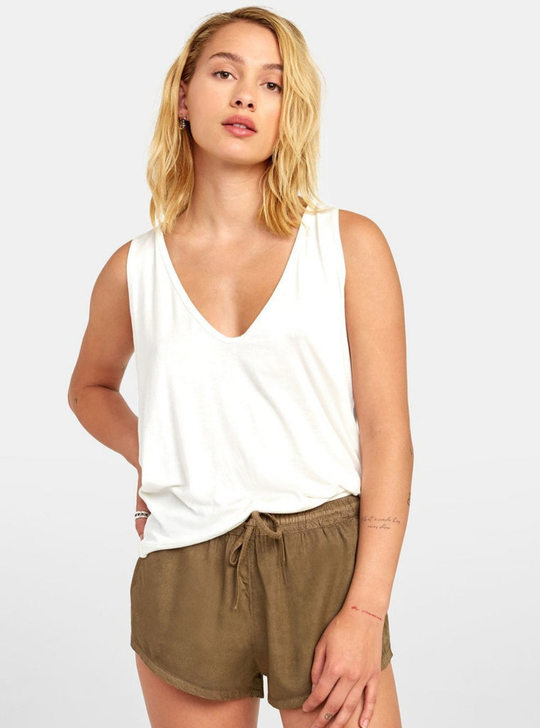 RVCA Minted Tank Off White