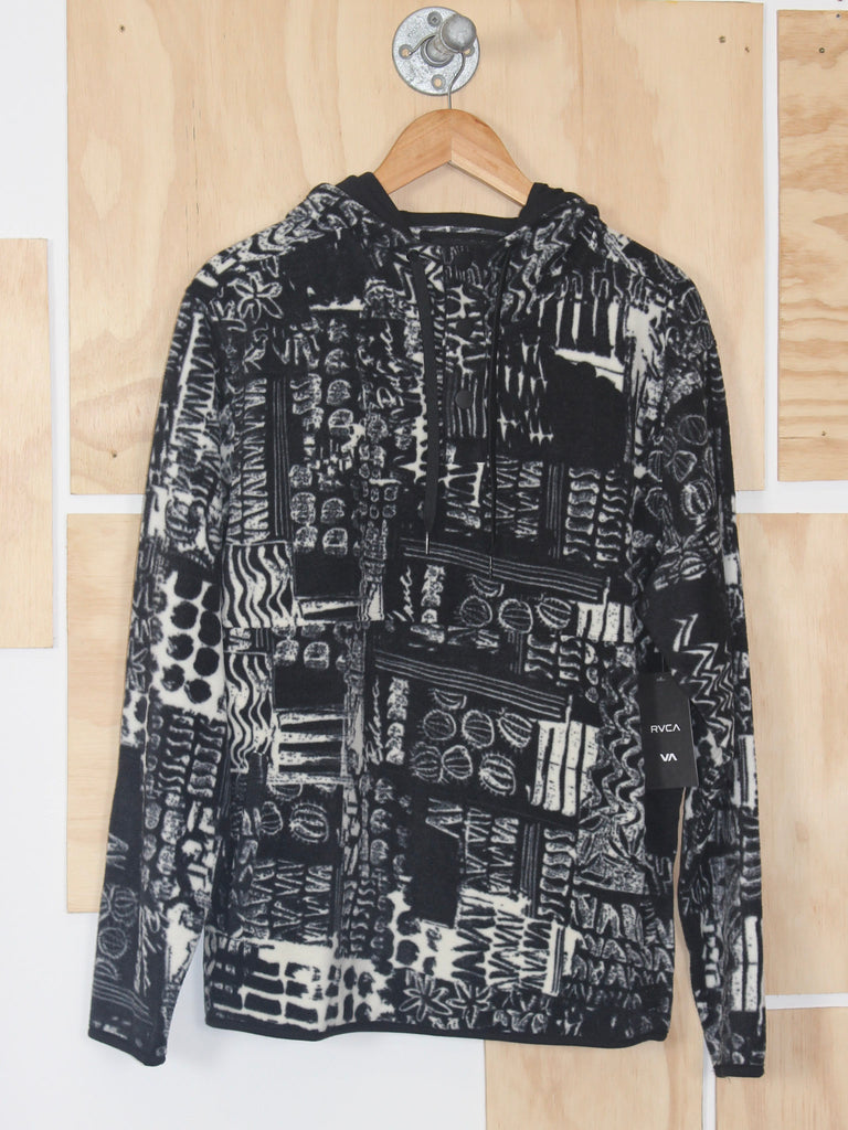 RVCA Mundy Polar Fleece Black Print