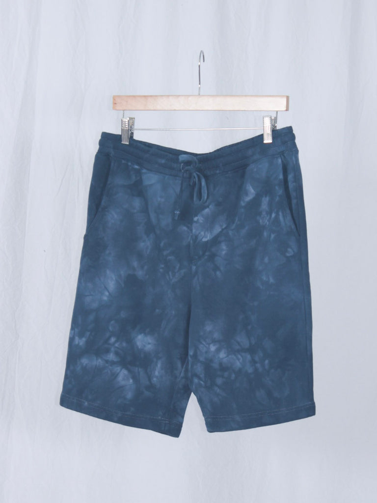 Berdels Big Belly Lounger Sweatshorts Tie Dye Navy