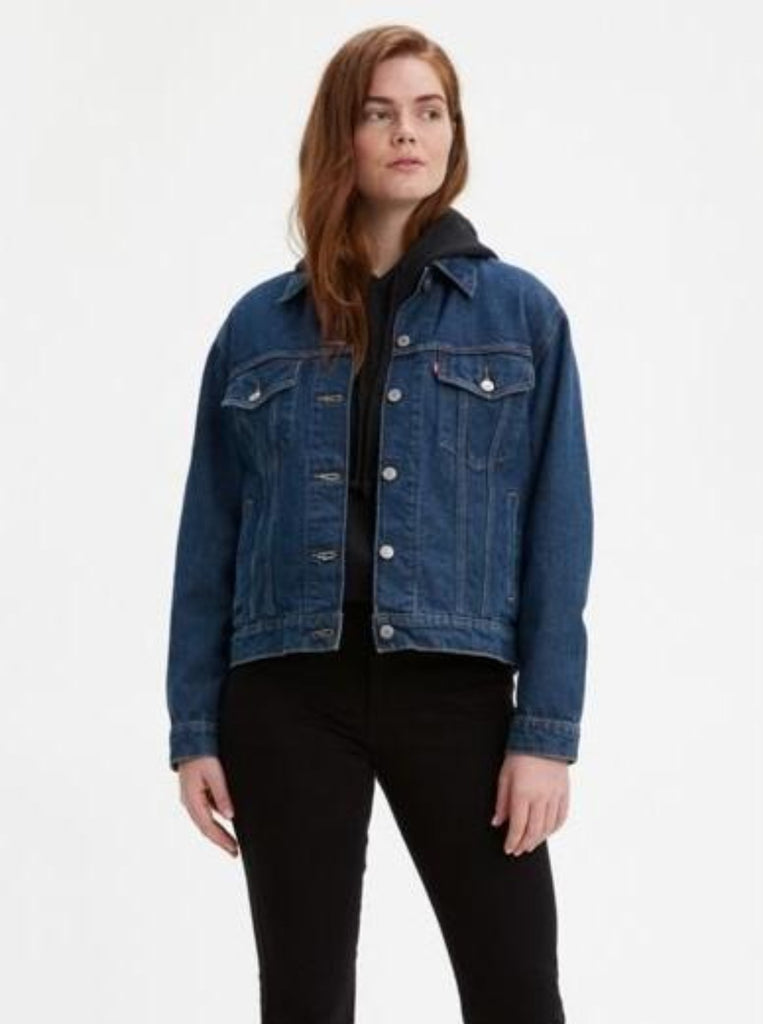 Levi's Ex-Boyfriend Denim Trucker Neu Blue