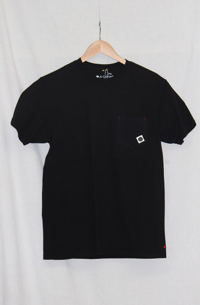 OLA Canvas Black Ball Pocket Tee Black