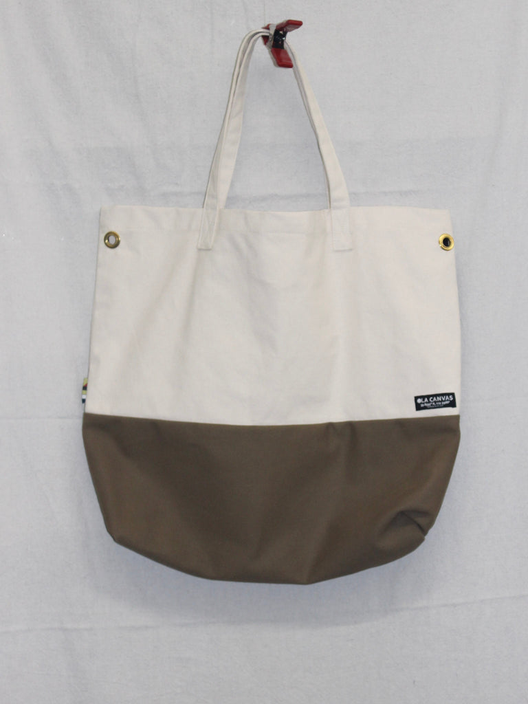 OLA Canvas Tote Natural/Brown