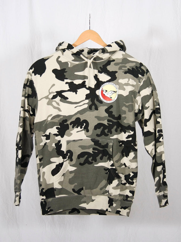 Pelican Club Pullover Hooded Sweatshirt Snow Camo